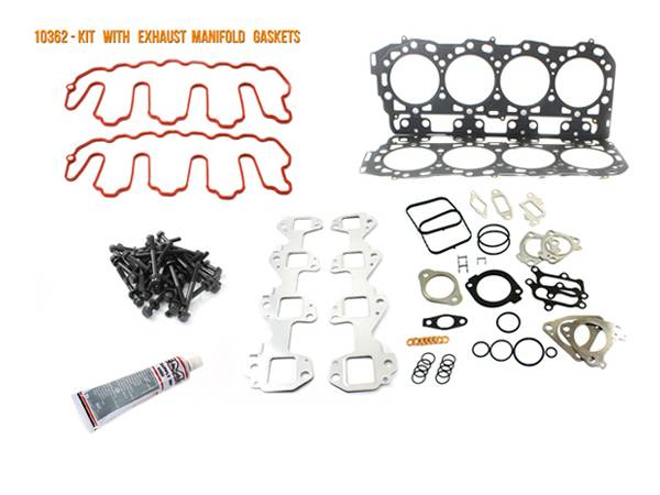 Merchant Automotive - LMM Head Gasket Kit with Exhaust Manifold Gaskets and OEM Head Bolts 2007-5-2010, Duramax