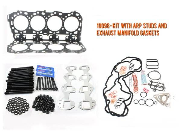 Merchant Automotive - LB7 Head Gasket Kit With ARP Studs and Exhaust Manifold Gaskets, Duramax