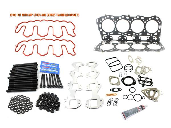 Merchant Automotive - LBZ Head Gasket Kit With ARP Studs And Exhaust Manifold Gaskets, Duramax