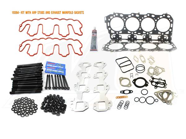 Merchant Automotive - LMM Head Gasket Kit with ARP Studs And Exhaust Manifold Gaskets, 2007.5-2010, Duramax