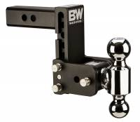 "B&W Hitches - B&W Hitches B&W Tow And Stow Dual Ball 2"" Adj Ball Mount 5"" Drop/5-1/2"" Rise, Black TS10037B"