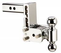 "B&W Hitches - B&W Hitches B&W Tow And Stow Dual Ball 2"" Adj Ball Mount 5"" Drop/5-1/2"" Rise, Chrome TS10037C"