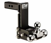 "B&W Hitches - B&W Hitches 10"" Blk T&S, Tri-Ball-Boxed TS10049B"