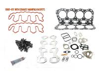Engine Parts - Cylinder Head Parts - Merchant Automotive - LBZ Head Gasket Kit With Exhaust Manifold Gaskets and OEM Head Bolts, Duramax