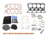 Engine Parts - Cylinder Head Parts - Merchant Automotive - LLY Head Gasket Kit,  With ARP Studs And Exhaust Manifold Gaskets, Duramax